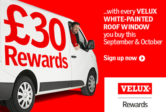 Velux Rewards - £30 rewards with every Velux White-Painted Roof Window this September/October - Sign up now