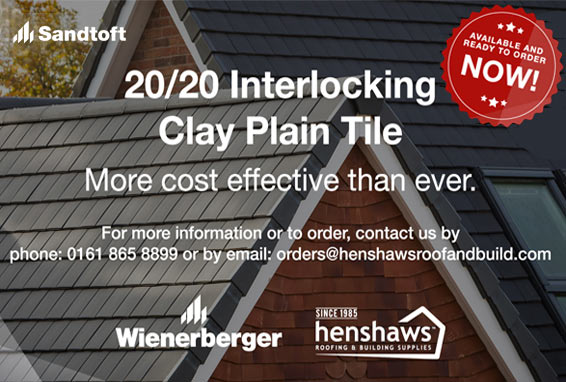 Sandtoft 20/20 Interlocking Clay Plain Tile - More cost effeective than ever