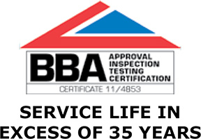 BBA Approval Inspection Testing Certification, service life in excess of 35 years