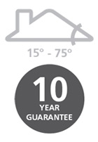 15° - 75° / 10 year guarantee