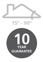 15° - 90° / 10 year guarantee