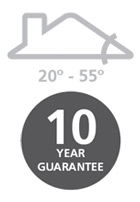 20° - 55° / 10 year guarantee